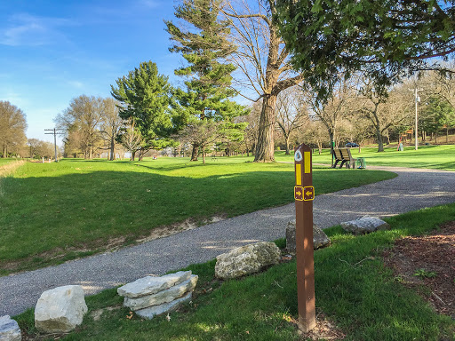 A golf course along the ice age national trail in Janesville WI