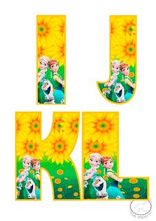 letras frozen para imprimir