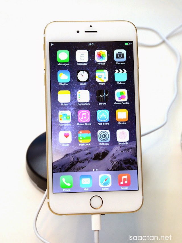 The gold iPhone 6