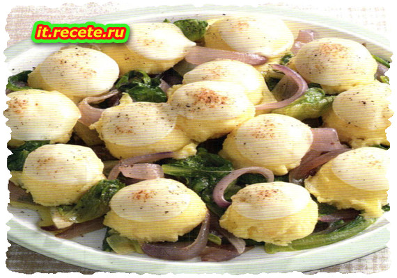Gnocchi di semolino sulle verdure