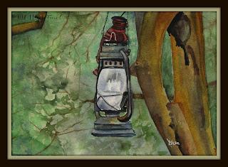 lanterns watercolor ncwren 30in30