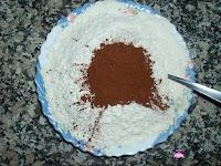 Harina con levadura y cacao