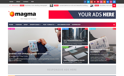 Magma Blogger Template