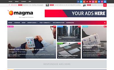 Magma Blogger Template