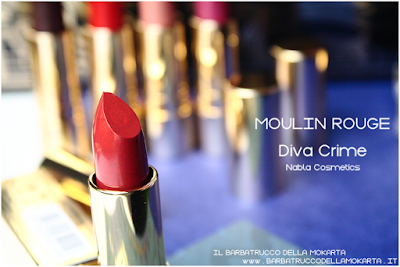 MOULIN ROUGE diva crime goldust collection Nabla cosmetics