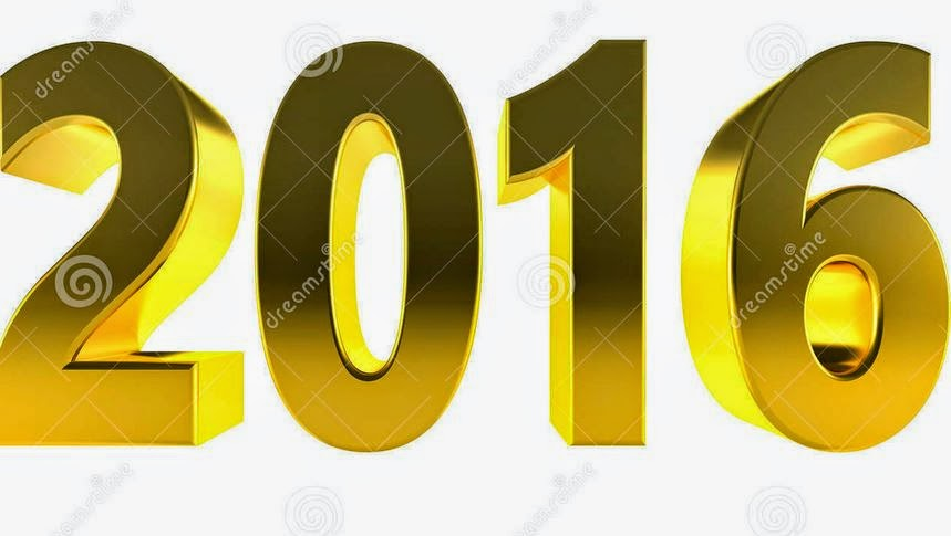 Happy New Year 2016 3D Text Images HD