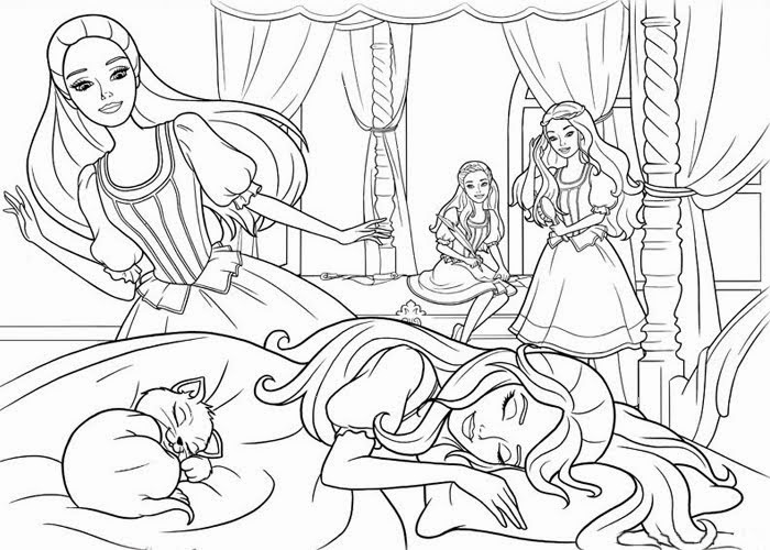 Barbie and the three musketeers coloring pages Free Coloring Pages