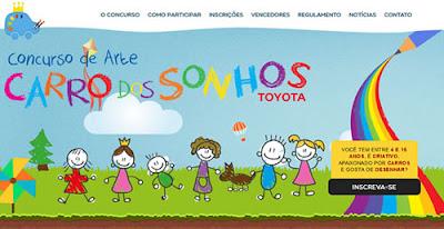 Concurso de desenho Carro dos Sonhos da Toyota