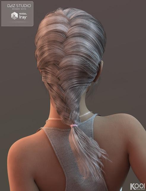 Jennifer Hair for Genesis 3 Female