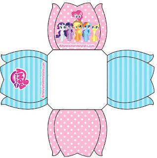 Cajas Abiertas para Imprimir Gratis de My Little Pony.