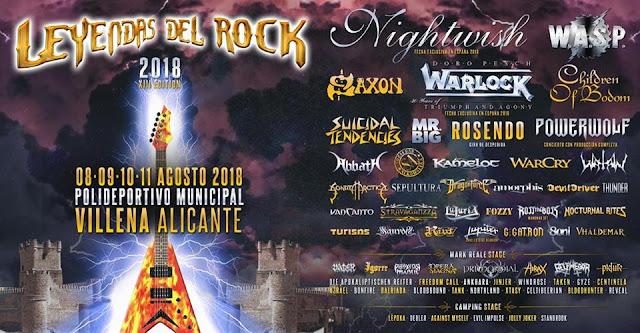 Cartel Leyendas del Rock 2018