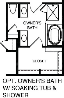 Ryan Homes Master Bath with Soaking Tub