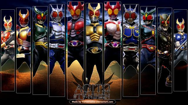 Kamen Rider Agito merupakan serial Kamen Rider ke-2 di Era Heisei, dalam kamen rider era heisei untuk pertama kalinya ada 3 rider yang tampil di serial Kamen Rider Agito ini.