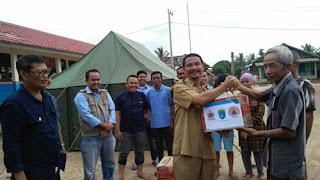 BPBD, DINSOS OKI & Sampoerna Agro Tanggap Bencana Sambangi 3 Desa