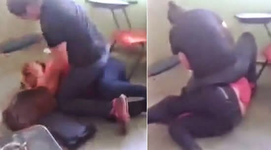 Youtube Video : Mexican Woman savagely beats teacher in front of her students for sleeping with her husband