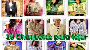 Colección de sacos tejidos para dama - 16 patrones