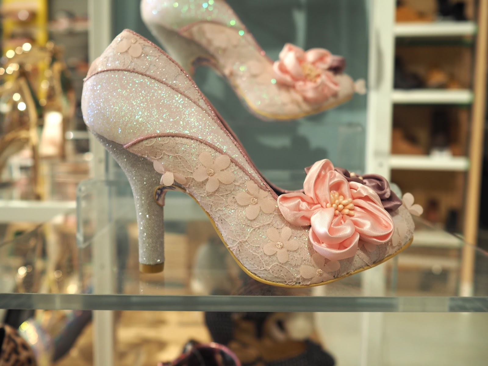 What to wear for York Races, Irregular Choice pink corsage shoes at Schuh over 40
