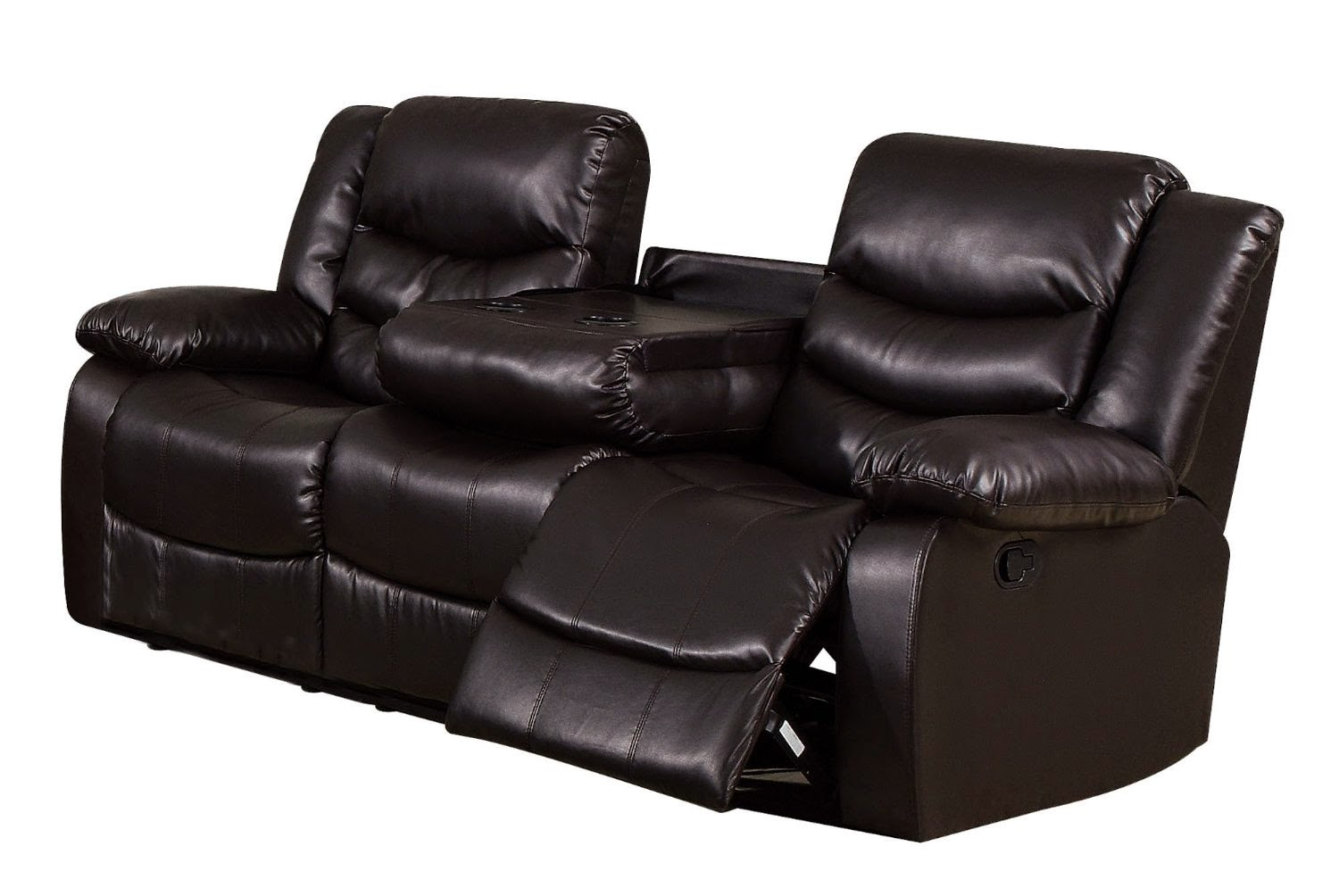4 Person Reclining Sofa Bobs Furniture Chaise Sofas For Sale Dual With Drop