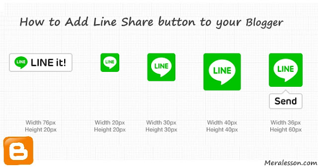 LINE share Button For Blogger