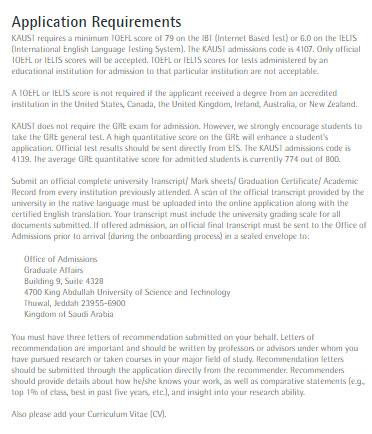 Kaust Scholarship Essay Sample - King Abdullah University