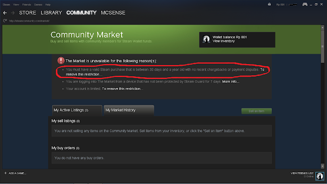 You must have a valid Steam purchase that is between 30 days and a year old with no recent chargebacks or payment disputes