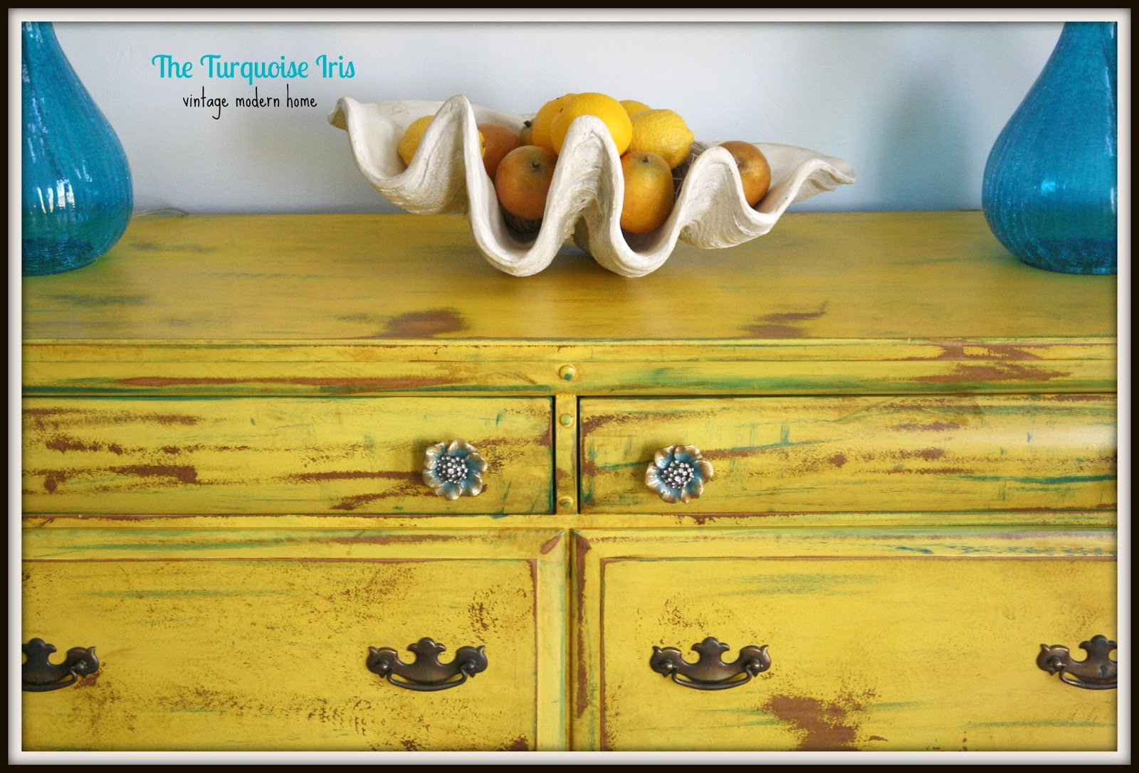 Unique The Turquoise Iris ~ Furniture & Art: Vintage Yellow Dresser  XH58