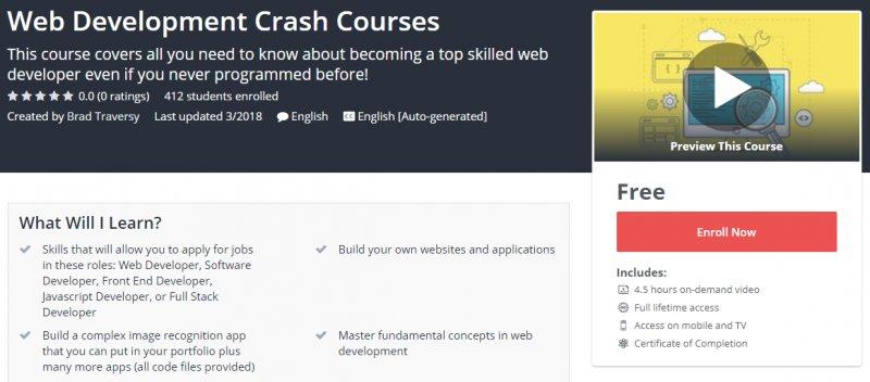 100% Free] Web Development Crash Courses - OnlineCouponsCourse