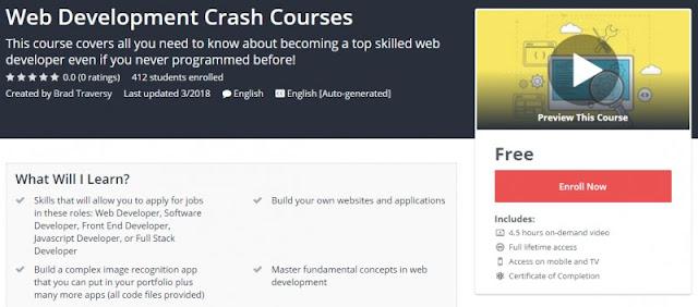 [100% Free] Web Development Crash Courses