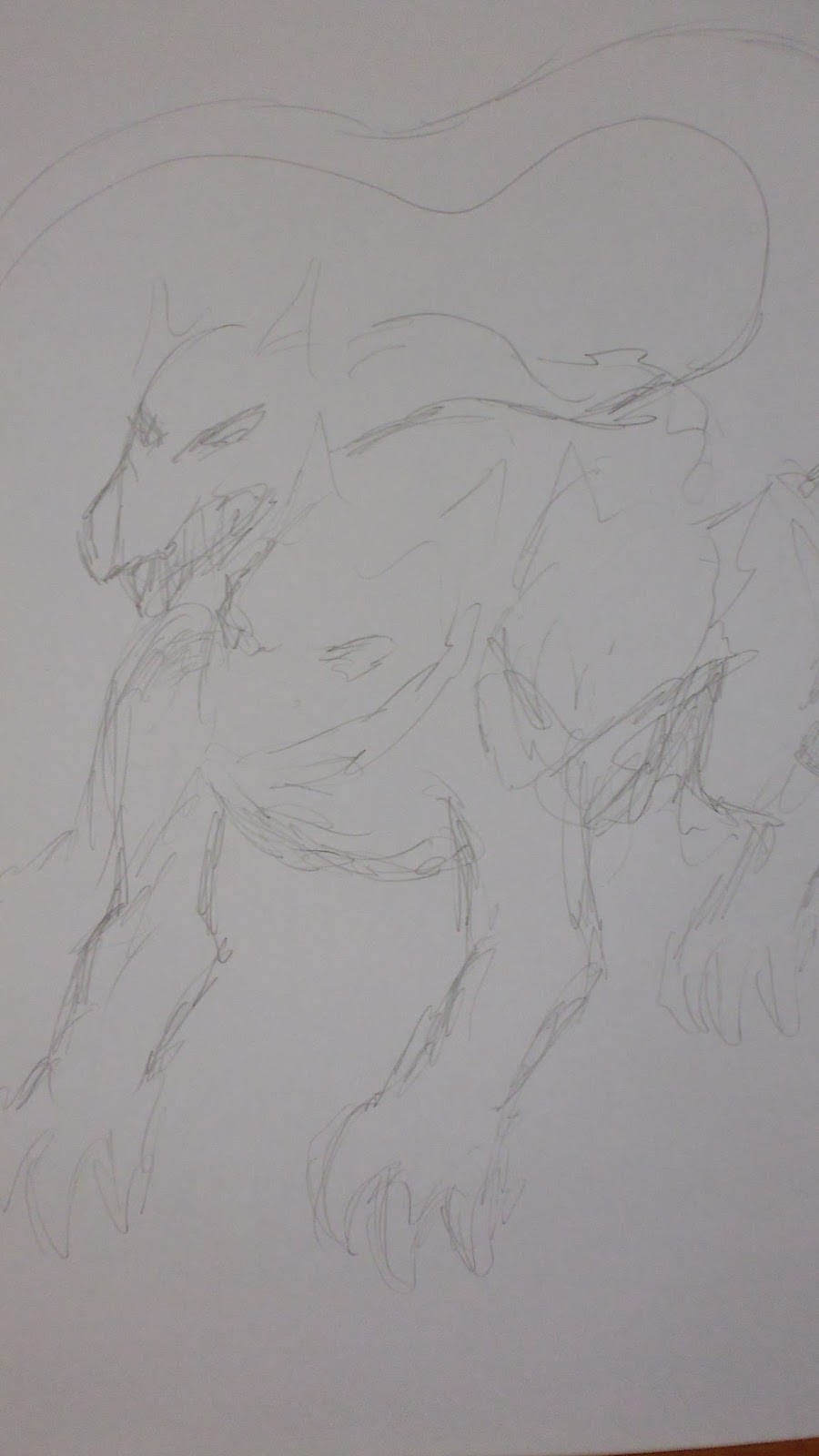 gesture drawing cerberus