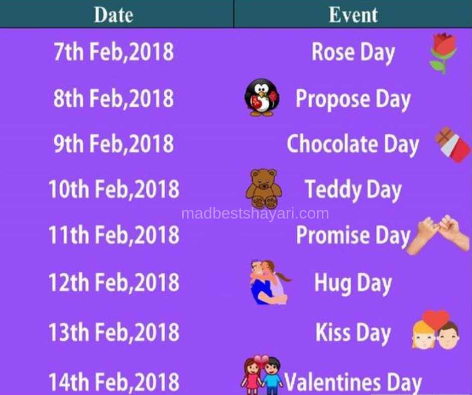 Valentine Day List 2019 Image Download