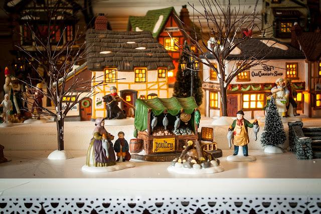 Dept. 56 Dickens Christmas Village set up 2016 via foobella.blogspot.com