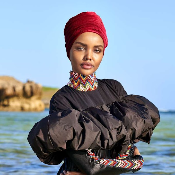 Somali-American model Halmia Aden wears hijab in Sports Illustrated