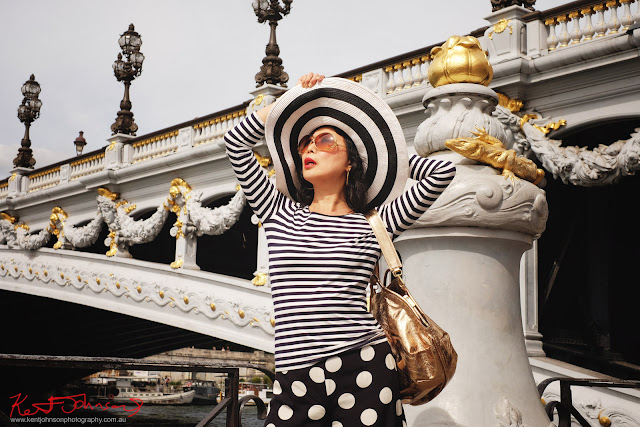 Have you ever wondered what a Photographer brings to a Photoshoot? Day, fashion shoot on Pont Alexandre III, Paris by Kent Johnson