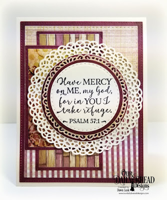 Our Daily Bread Designs Stamp Set: God Verses 2, Custom Dies: Fancy Circles, Circles, Double Stitched Circles, Pierced Rectangles, Double Stitched Rectangles, Rectangles, Paper Collection: Rustic Beauty