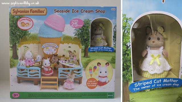 Sylvanian Families ice cream shop with Striped Cat Mother