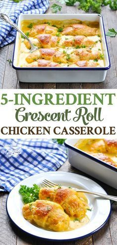 The Perfect 5-Ingredient Crescent Roll Chicken Casserole