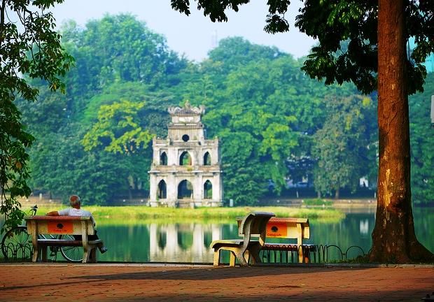 Ngắm bình minh Hồ Hoàn Kiếm   Kinh nghiệm Du lịch Hà Nội