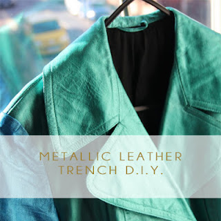 Burberry metallic leather diy
