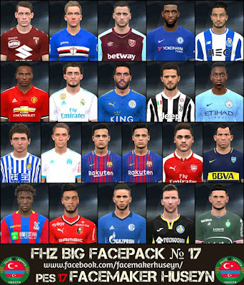 PES 2017 FHZ Big Facepack №17 by Facemaker Huseyn