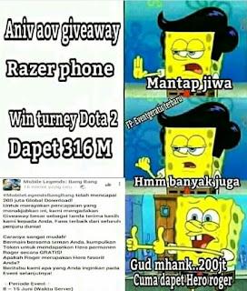 Meme giveway receh Mobile Legends