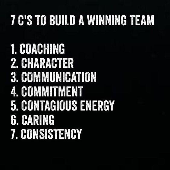 7 c u0026 39 s to build a winning team