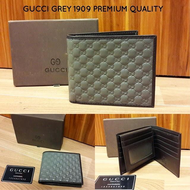 7d6aac3fff9900 Dompet Pria Merk Gucci Grey PREMIUM QUALITY + INCLUDE BOX + SERTIFIKAT