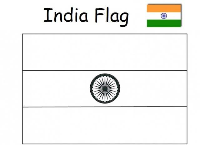Indian Flag Coloring Page: Geography Blog: India Flag Colouring Page