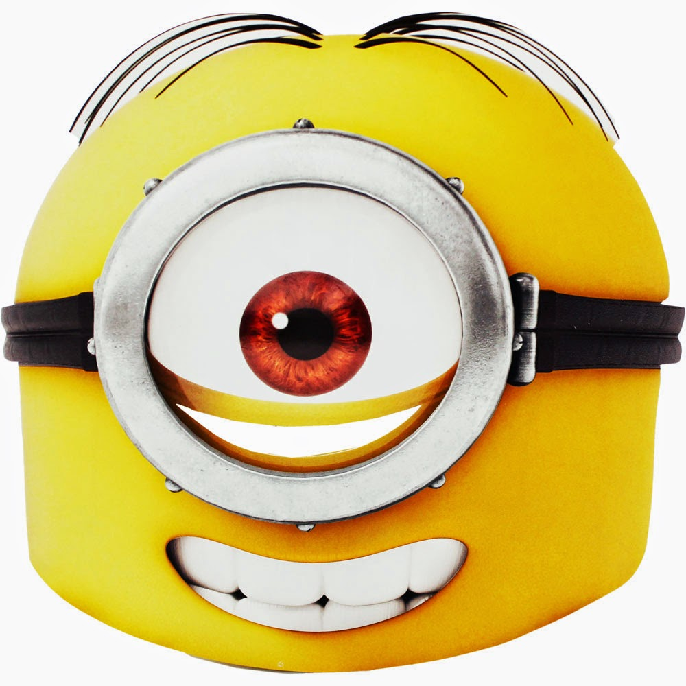 image about Printable Minion Face identified as Minions Cost-free Printable Mask. - Oh My Fiesta! within just english