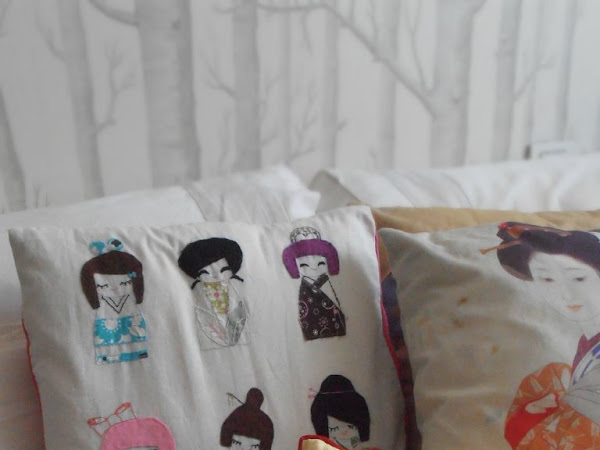 Cuscino Kokeshi/ Kokeshi pillow