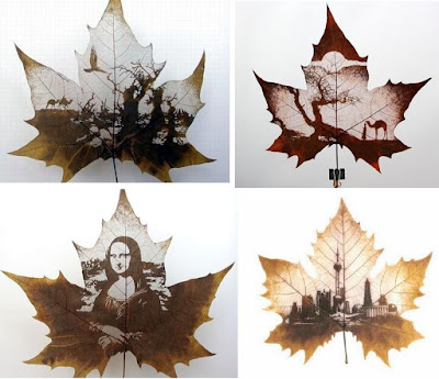 15 Awesome Leaf Carvings.