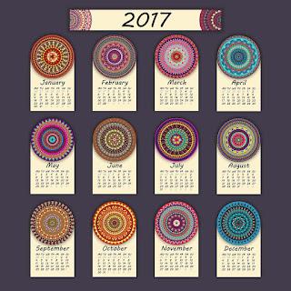 2017カレンダー無料テンプレート104