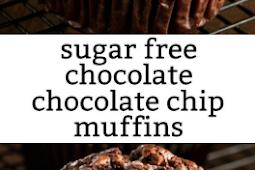 #Recipe #Chocolate >> The Recipe For Sugar Free Chocolate Chocolate Chip Muffins