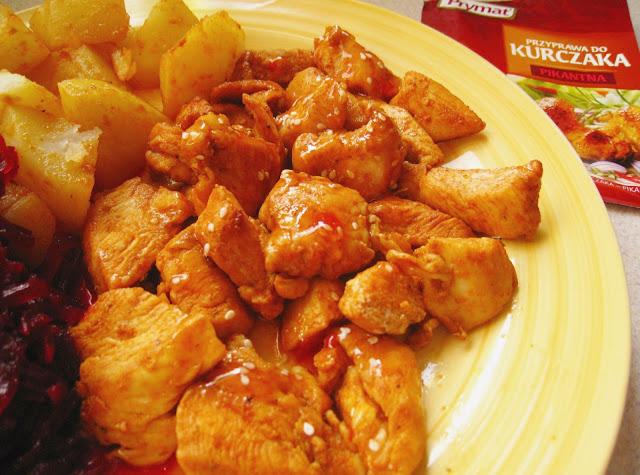 Ostry kurczak z sezamem