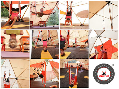 aeroyoga, yoga aereo, aerial yoga, air yoga, yoga aerien, fly, flying, gravity, suspension, gaelle devic, rafael martinez, stage, formacion, teacher training, anti, age, trapeze